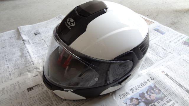 塗装前のヘルメット