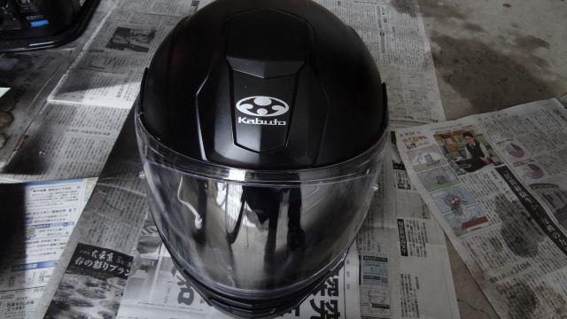 塗装後のヘルメット